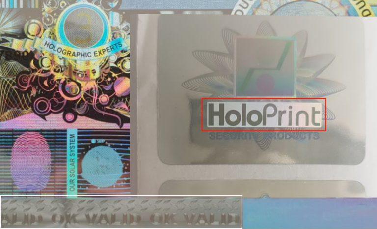 Hologramm-Etiketten kaufen günstig