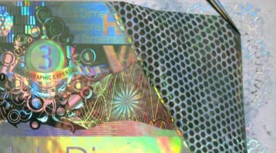 Void-Waben Sicherheitskleber für Hologrammetiketten